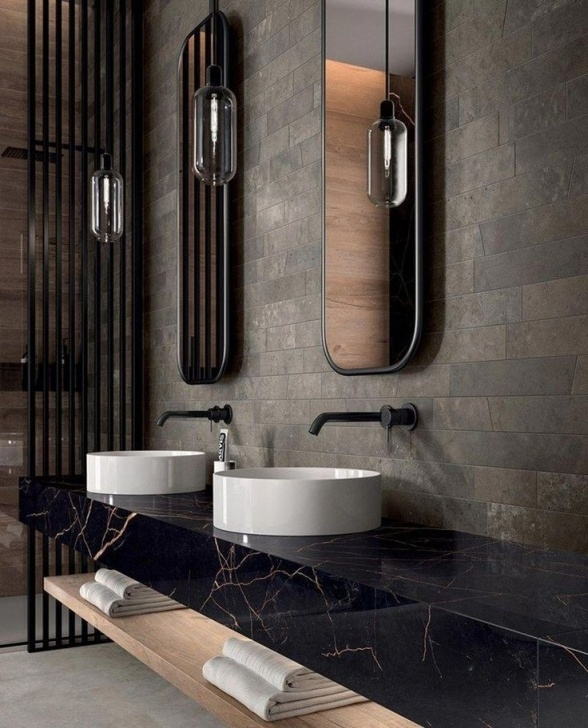 Badezimmerdekor Contemporary Bathroom Lighting Image 424