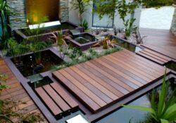 zeitgenössischen Wassergarten-Ideen